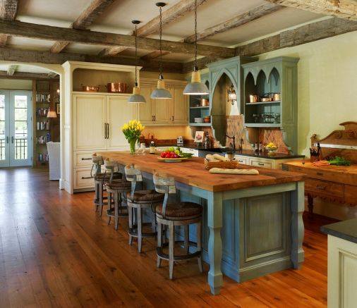 rustic-modern-kitchen-with-antique-look-interior-design-ideas