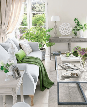 living-room-green-accents-pantone-greenery